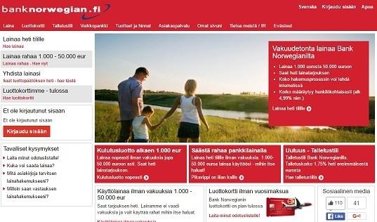 bank norwegian kulutusluotto