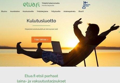 etua.fi etsii parhaat kulutusluottotarjoukset reaaliajassa