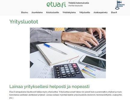 etua.fi yritysluotto ilman sitoumusta