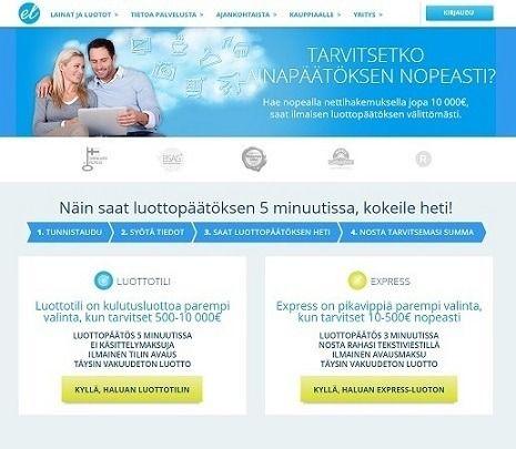 euroloan express kulutusluotto heti 3 minuutin lainapäätöksellä!