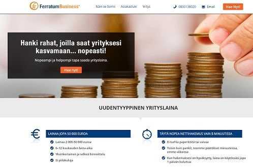 ferratum business yrityslaina ilman vakuuksia heti netistä