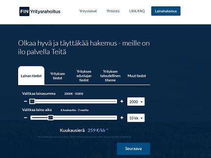 fin yritysrahoitus lainaa yritykselle netistä ilman vakuuksia
