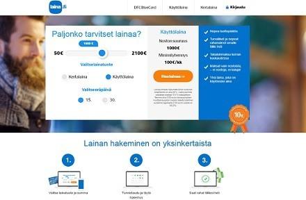 laina.fi kertalainaa 3500e heti netistä!