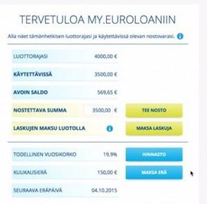 my.euroloan verkkopalvelussa maksat laskuja ja teet nostoja helposti