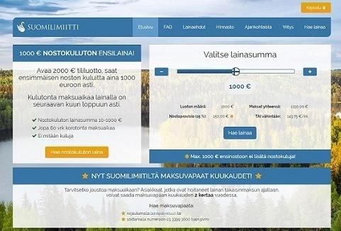 suomilimiitti ensimmäinen laina ilman kuluja jopa 10-1000e