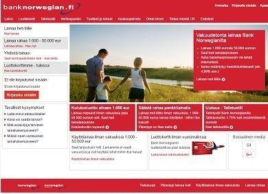 bank norwegianin kulutusluotto on netin halvin 4,99% vuosikorollaan ja siihen saa lainapäätöksen heti