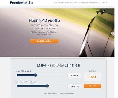 freedom rahoituksen autolaina tarjous on sellainen josta harva voi kieltäytyä