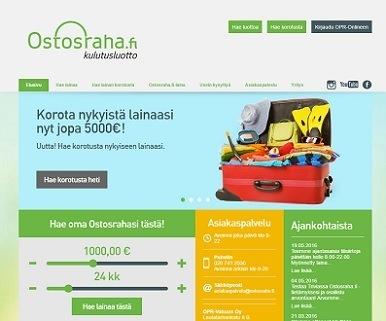 ostosraha.fi autorahoitus heti tilille 15 minuutissa joka päivä