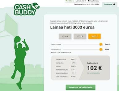 cashbuddy lainaa heti netistä 1000-3000 euroa