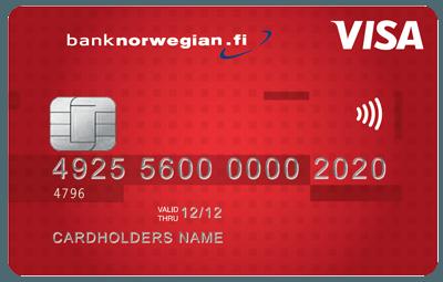 Bank Norwegianin luottokorttiin et tarvitse vakuuksia etkä takaajaa!