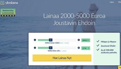 Yleislaina.fi - haluaisitko lainan nyt vihdoin joustavin ehdoin ilman piilokuluja?