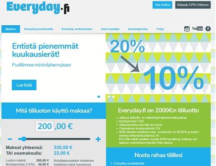 Everyday.fi joustoluottoon saat lainapäätöksen varttitunnissa ja voit heti tehdä nostoja tekstiviestillä.