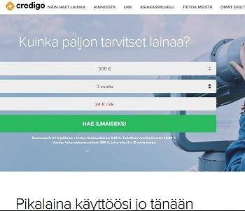 Credigo on luotettava ja pohjoismaalainen pikavippipalvelu.