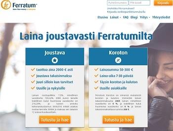 Saat pikavipin joustavasti Ferratumilta: valitse kahden tuotteen väliltä.