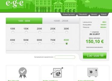 Ege toimittaa lainamaksun jopa 30 minuutissa tilille