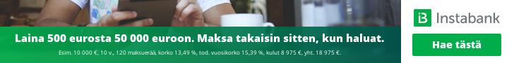 Lainaa nyt Instabankilta vapaasti ilman vakuuksia: 500 eurosta jopa 50 000 euroon joustavalla maksuajalla.