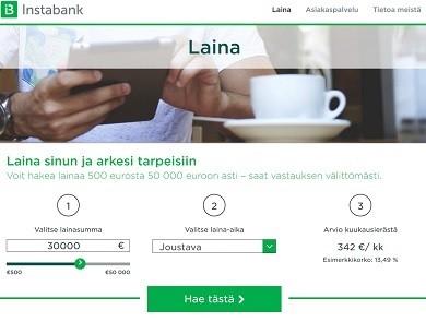 Instabank Finland: luottopankki on uusi kilpaileva verkkopankki Suomessa.