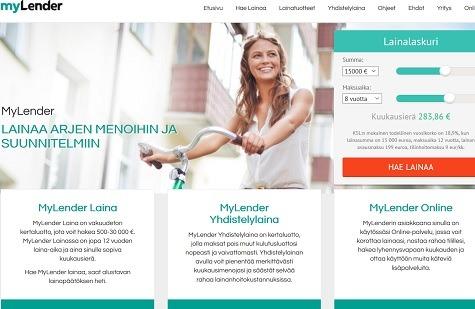 MyLender kokemuksia sekä yhdistelmäluotosta, että kuluttajalainasta