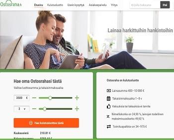 Ostosraha.fi kulutusluotto on heti tilillä ja nyt sitä saa jopa 10.000 euroon asti