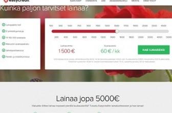 Easycredit – Uusi pikalaina on avattu Suomeen.