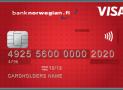 Uusi Bank Norwegian luottokortti ilman liitteitä.